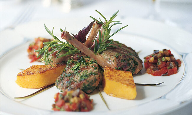 on board dining - regional cuisine - european chefs